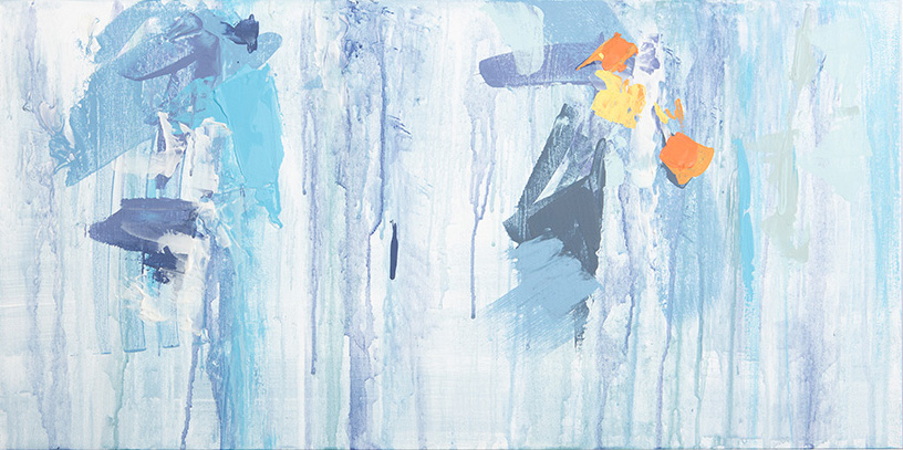 """""""Accenting the Blue!"""" 12x24"""