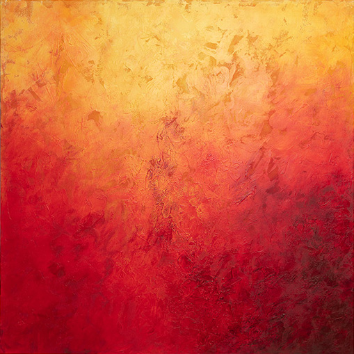 """Love Red"" 36x36 - SOLD"