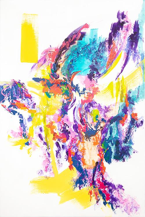 Trilogy 2 of 3 Acrylic on Canvas 24x36